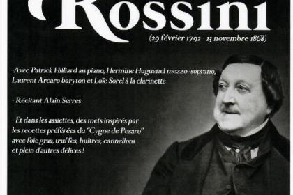 Soirée d'Exception, musicale, gastronomique et festive autour de ROSSINI